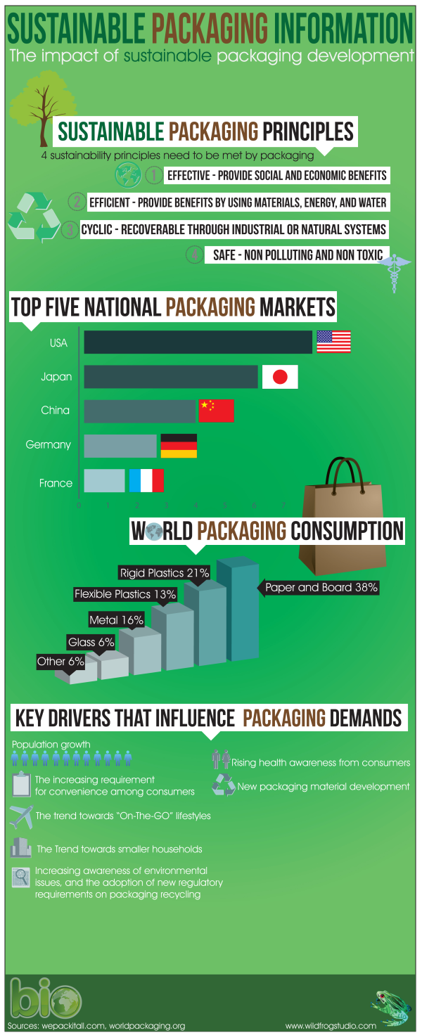 Sustainable Ecofriendly Packaging Infographic