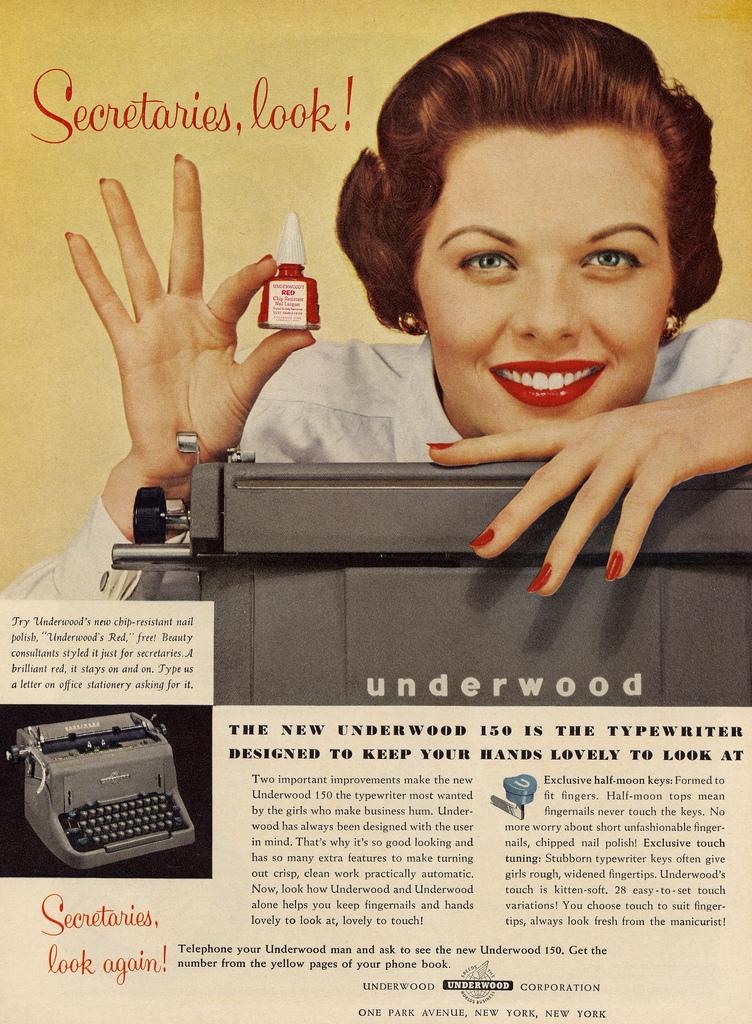 Vintage Secretary and Typewriter Ad