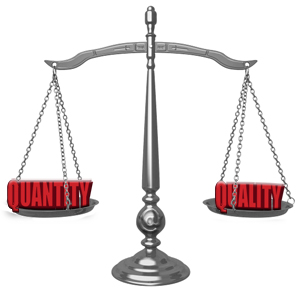 U--SEO and Marketing-Blog Images-quantity-vs-quality equal on scale