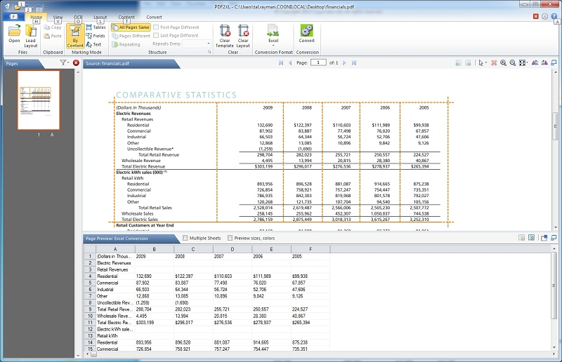 Click to view PDF2XL OCR: Convert PDF to Excel 6.0.0 screenshot