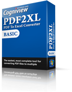 Convert PDF to Excel with PDF2XL