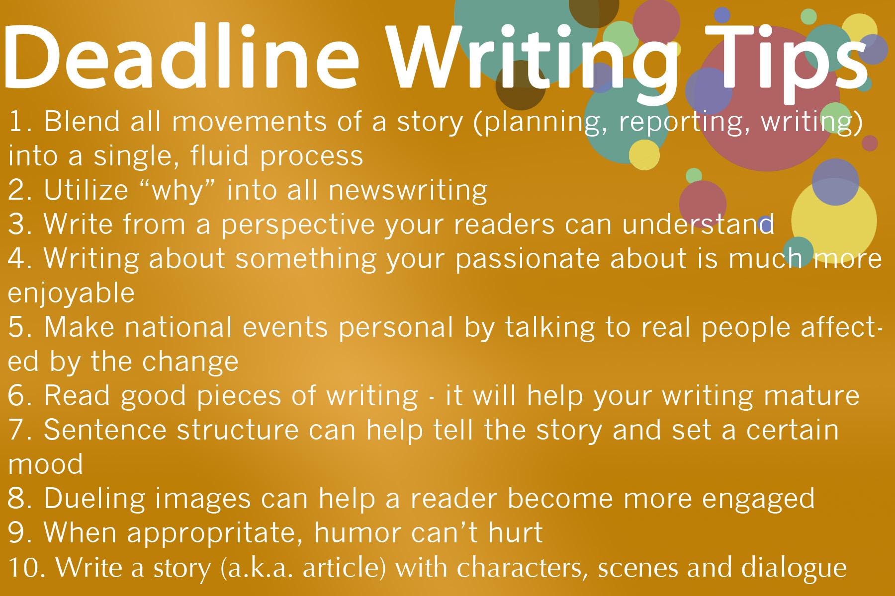 journalism writing tips