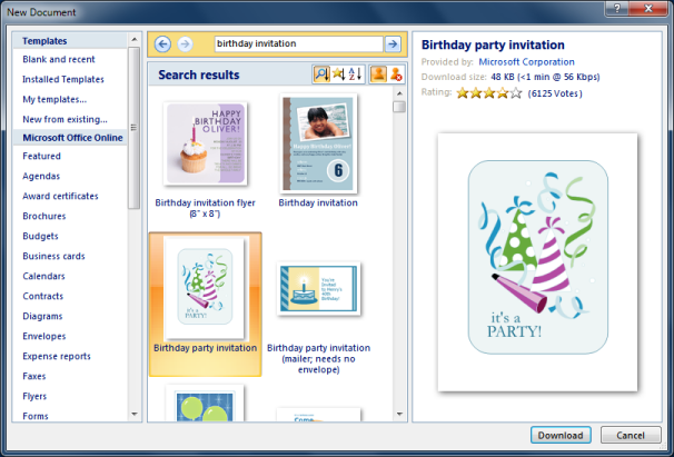 Personalized Invitations Using Word And Excel CogniView - Birthday invitation using ms word