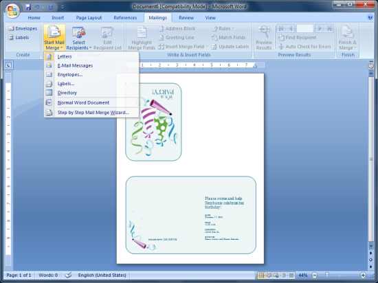 Personalized Invitations using Word and Excel CogniView