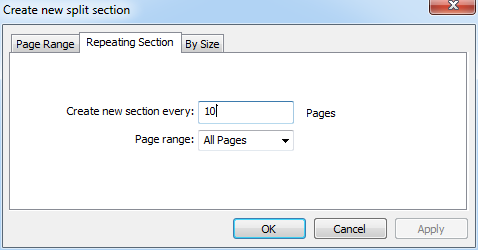 Split PDFs by Recurring Sections